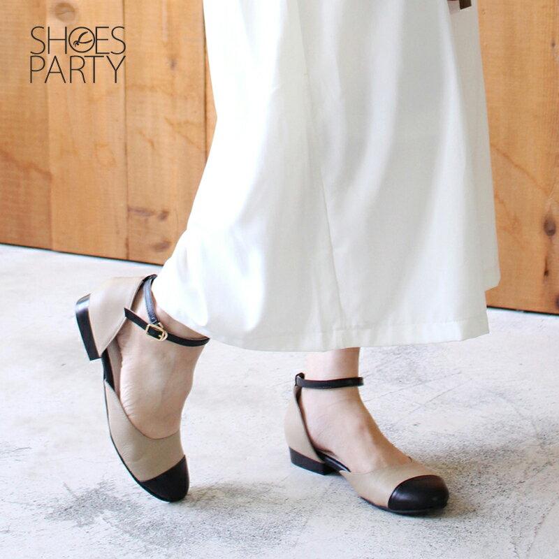 【P2-17112L】真皮拼接平底赫本鞋_Shoes Party 3