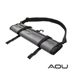 【AOU】可斜揹 捲式衣物收納袋 衣物旅行袋 多隔層 YKK配件台灣製造 (灰色107-031)【威奇包仔通】