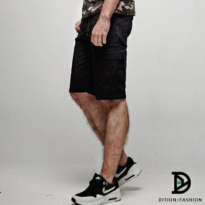 DITION 美式機能口袋outdoor工作短褲 素色 硬挺滑板褲 2