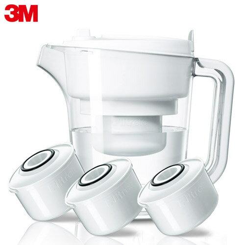 【3M】即淨長效濾水壺-經典白 (1壺3濾心)