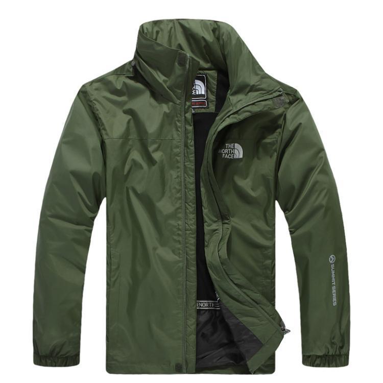北臉 THE NORTH FACE 立領 保暖外套 防寒防風水 機能衣系列 風衣 騎士外套 軍綠