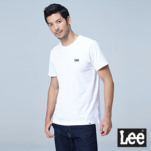 Lee小LOGO短袖圓領TEERG-白色