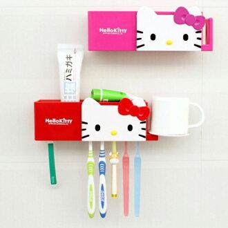 tangyizi輕鬆購【DS041】hello kitty卡通吸盤式牙刷架牙刷座漱口杯架置物架水杯架