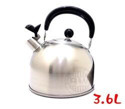 2059生活居家館_日本製造Cookvessel笛音壺3.6L黑色砂光 高質感日系雜貨風㊣304不鏽鋼茶壺 開水壺₁