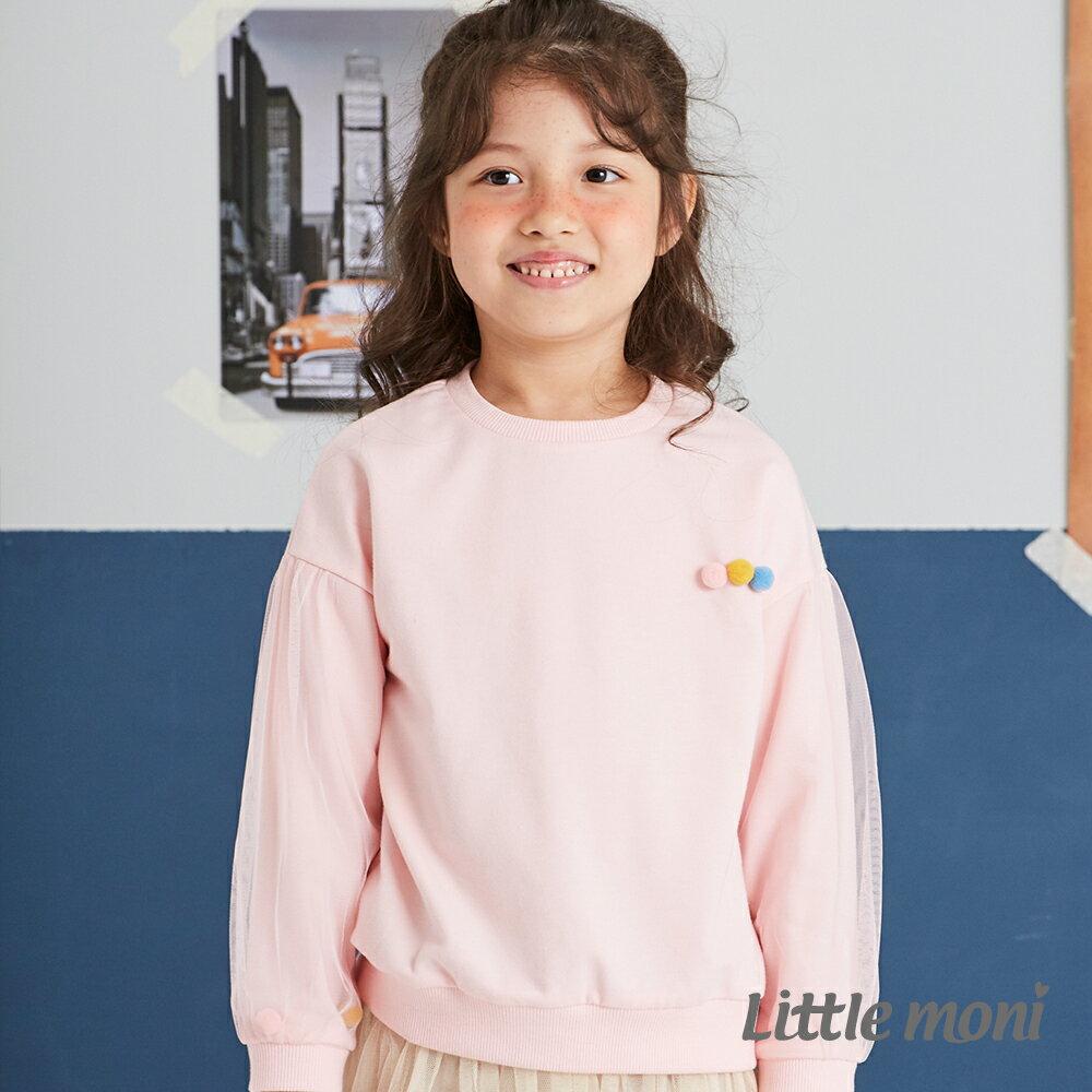Little moni 圓領毛球造型上衣-粉紅(好窩生活節) 1