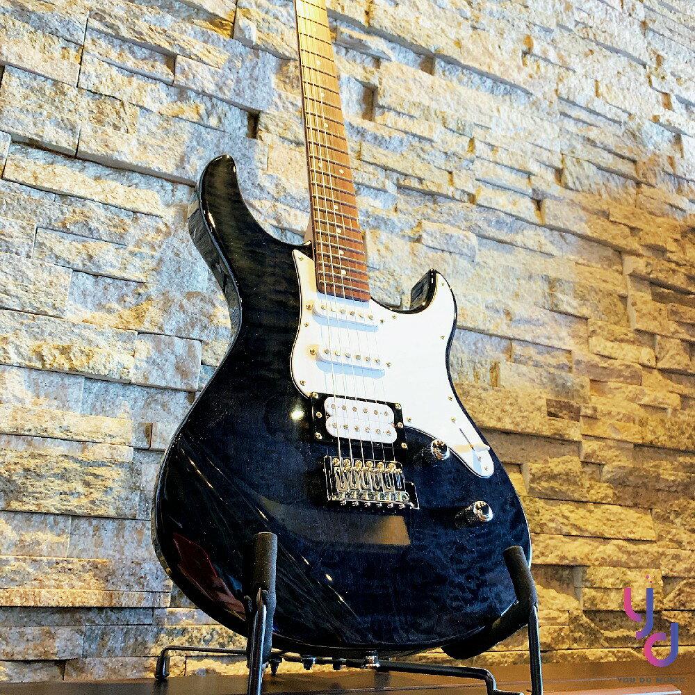 現貨免運 送千元配件 保固一年 YAMAHA Pacifica Pac 212 VQM 黑色 雲狀楓木 單單雙 電吉他