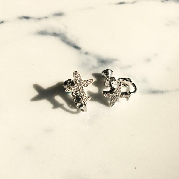 (預購+現貨)勇敢飛行小飛機耳夾式耳環耳夾(螺旋夾2色)【2-2711】