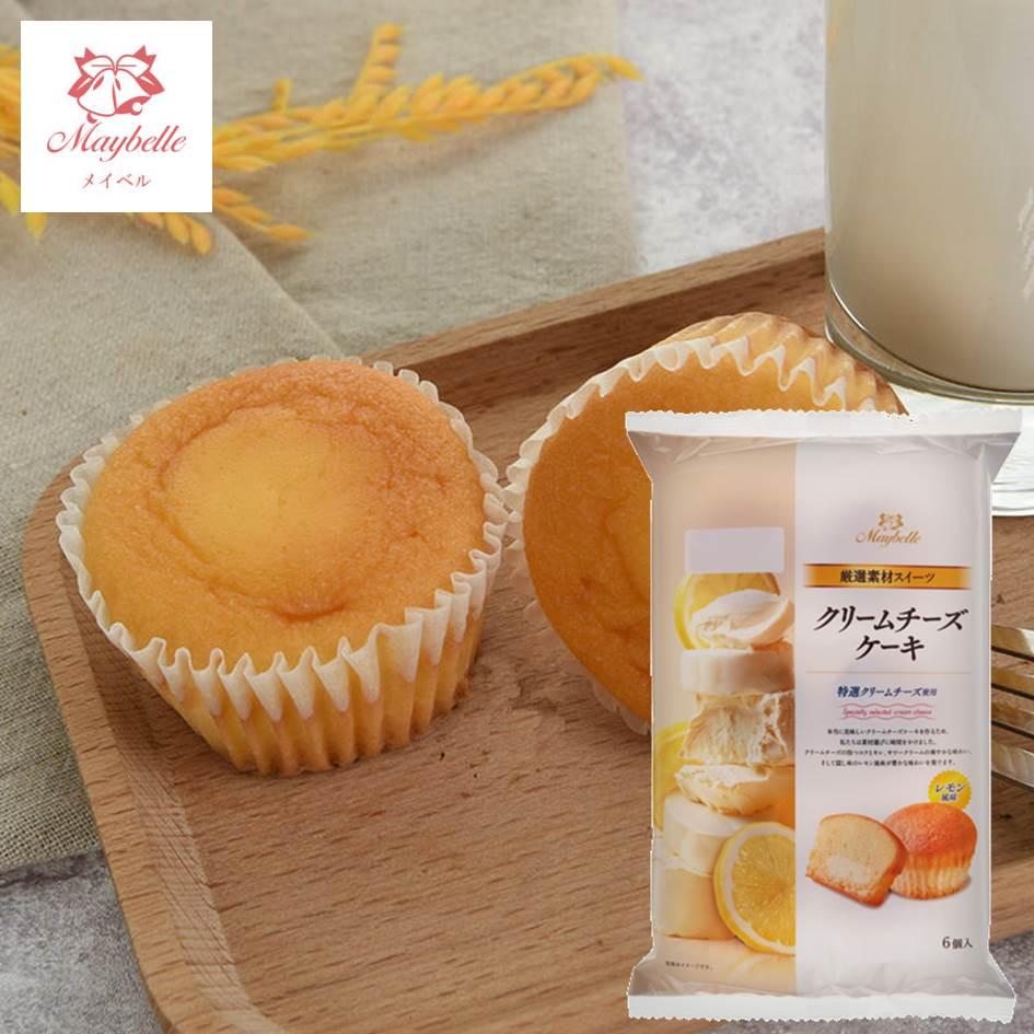 【丸中製菓】Maybelle奶油起司檸檬蛋糕6個入 210g クリームチーズケーキ 日本進口甜點
