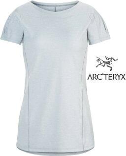 Arcteryx始祖鳥Taema透氣快乾短袖圓領排汗衣排汗T恤18909女款雅典娜灰