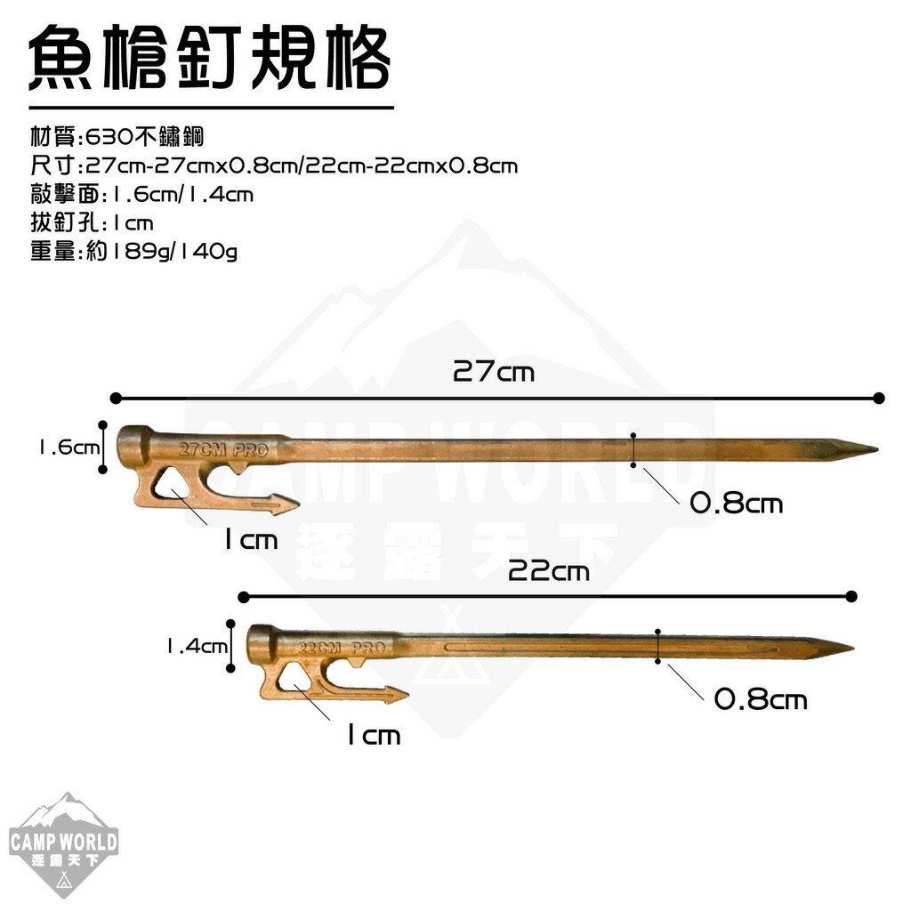 熱處理營釘 TKS 魚槍釘 630不鏽鋼 仿舊 原色
