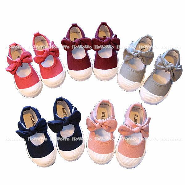 小童鞋 蝴蝶結帆布平底女童鞋 女寶寶休閒鞋 KL51 好娃娃