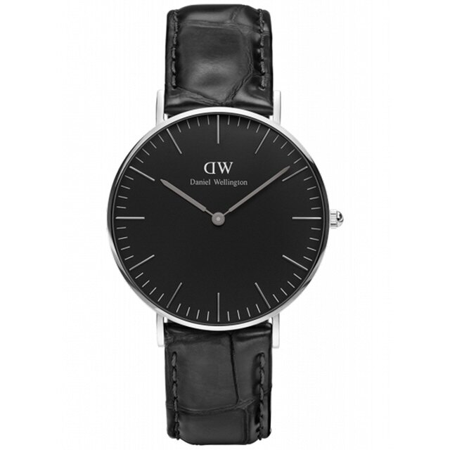 【 貨】Daniel Wellington DW 瑞典簡約風格 36mm    壓紋黑色