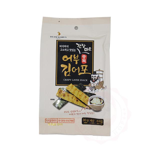 Team Korea 海苔魚脆片 醬油美乃滋 30g ~庫奇小舖~