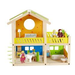 【免運費】《 德國 Hape 愛傑卡》娃娃屋系列 - 我的快樂小屋 ( 附家具 )