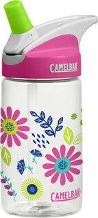 【【蘋果戶外】】美國Camelbak兒童彈跳式吸管水瓶可愛花朵400ml0.4L0.4公升登山水壺單車水壺