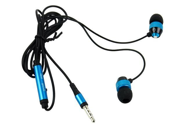 Blue 3.5mm Stereo In-ear Earphones Earbuds Handsfree For HTC iPad iPhone Samsung 0