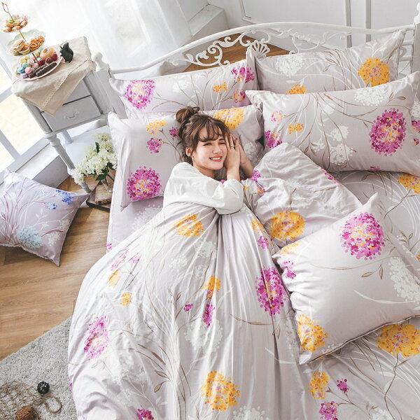 戀家小舖:床包被套組雙人-100%精梳棉【芙若蕾-粉】60支精梳棉,含兩件枕套,戀家小舖,台灣製