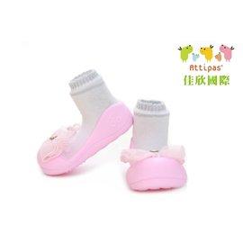 【淘氣寶寶】韓國【Attipas】快樂腳襪型學步鞋-水晶粉紅M