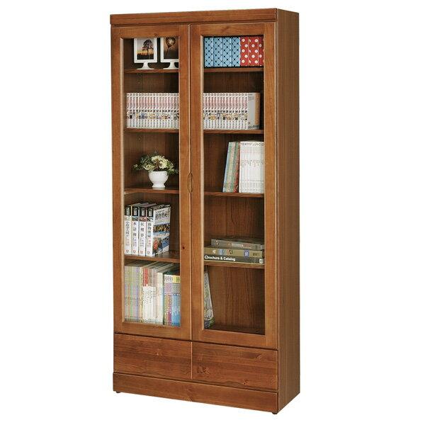 優世代居家生活館:書櫃有門書櫃大型書櫃收納櫃櫥櫃展示櫃置物櫃收納櫃《Yostyle》歐文柚木下抽書櫃