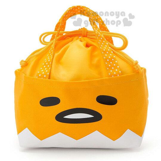〔小禮堂〕蛋黃哥 迷你束口保冷提袋《黃.大臉》內裡鋁箔保冷材質