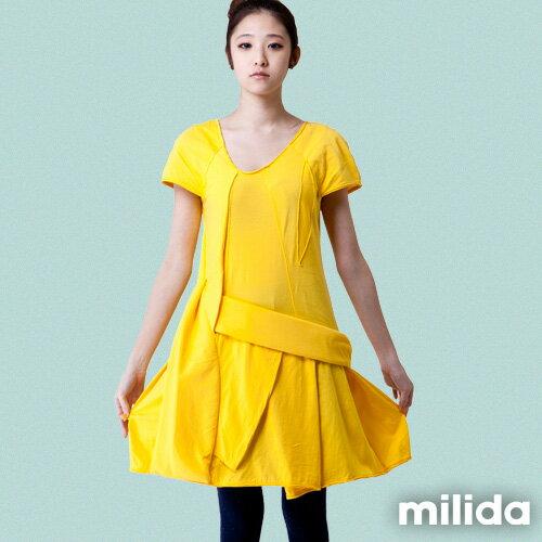 【Milida,全店七折免運】-夏季尾聲-素色款-厚棉立體造型設計 9