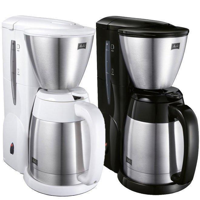 【沐湛咖啡】 第二代 美利塔Melitta 不鏽鋼真空雙層結構 美式咖啡機MKM-531 美式壺 黑色/白色 附量匙