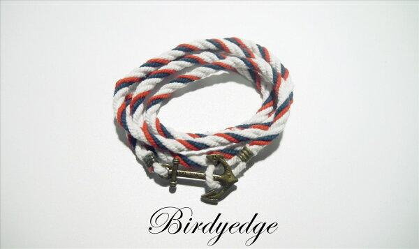 BIRDYEDGE 手工 編織 海軍 手鍊