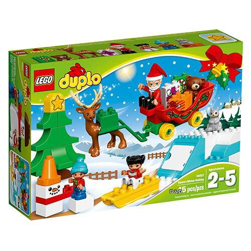 樂高積木LEGO《LT10837》2017年Duplo得寶系列-聖誕老人的冬季假期