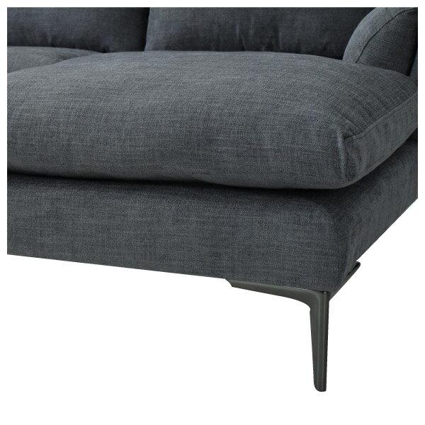 ◎布質左躺椅L型沙發 KF2037 DGY NITORI宜得利家居 6