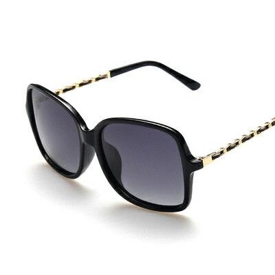 墨鏡金屬鍊條拼接漸層偏光太陽眼鏡【KS7225】BOBI0315