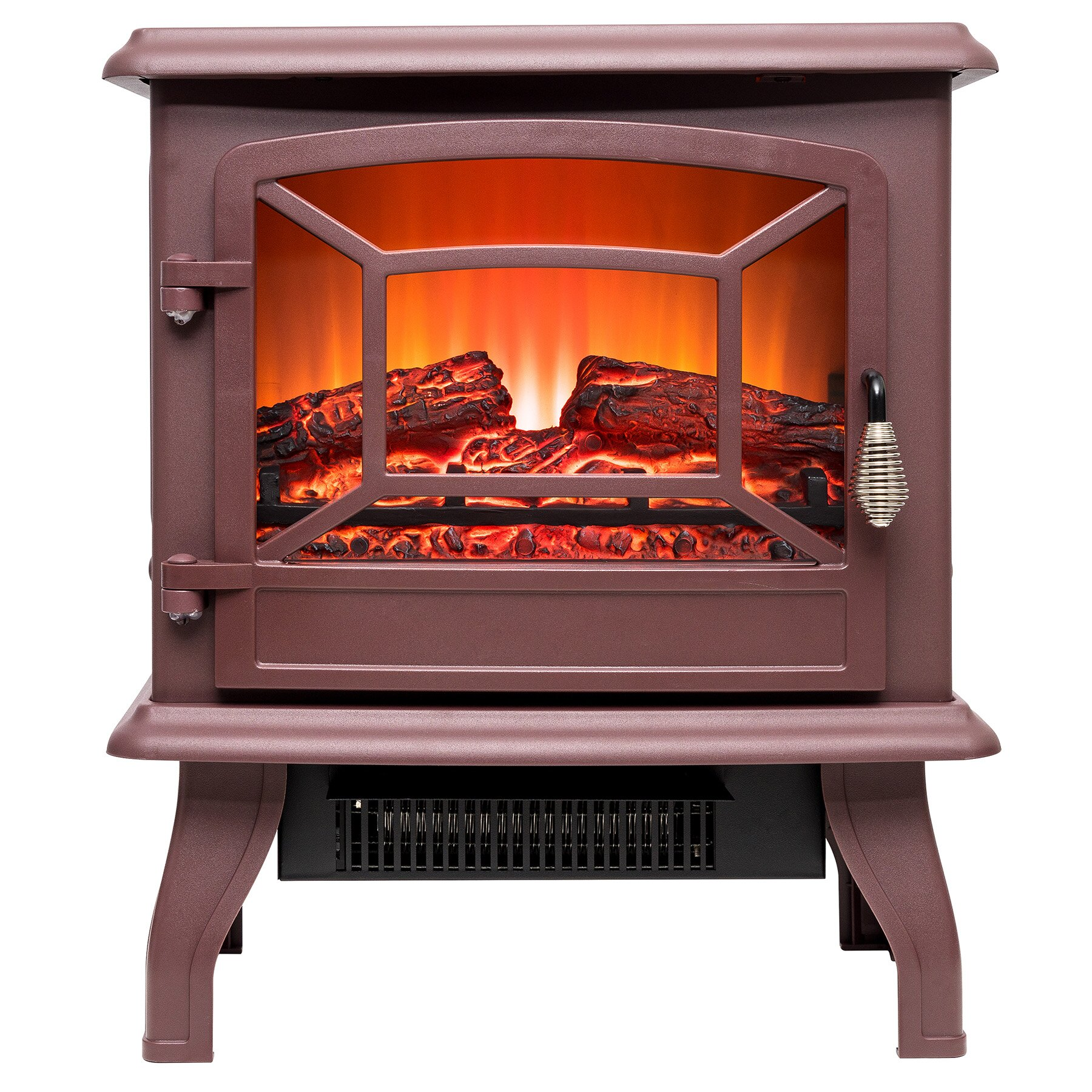 "AKDY 17"" Freestanding 2 Setting Level Electric Fireplace Heater Stove 0"