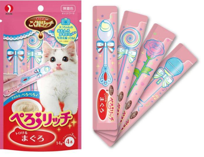 《日本PETLINE》沛萊亞 啾咪肉泥貓零食-14g/條(10種口味)【現貨】