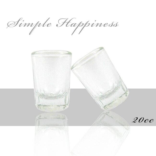 簡單幸福 透明玻璃一口杯20cc^(12入^)shot杯 烈酒杯 威士忌杯 吞杯 洋酒杯