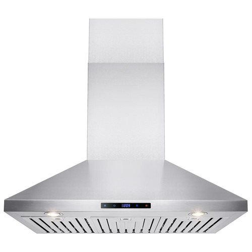 """36"""" Stainless Steel Wall Mount Range Hood Touch Screen Display Light Lamp Baffle Filter 0"""