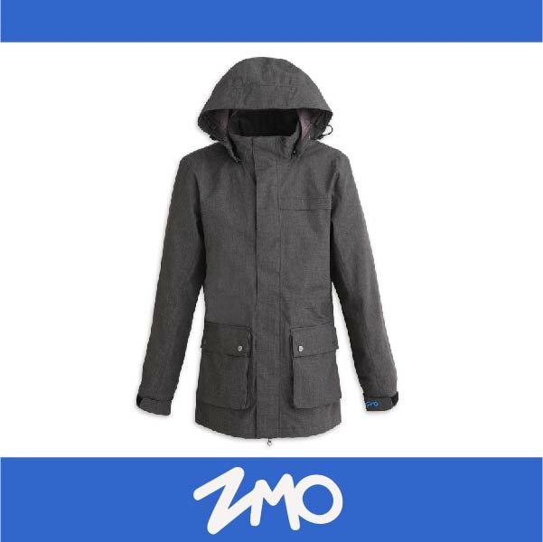 萬特戶外運動 ZMO JG361-BK 男防風雨風衣外套-長版大衣 防水 防風 黑色
