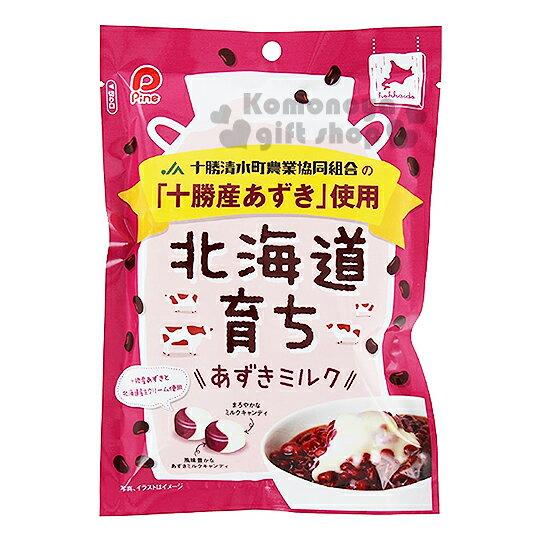 〔小禮堂〕日本原產 Pine 北海道紅豆牛奶糖《80g.硬糖》十勝產的紅豆
