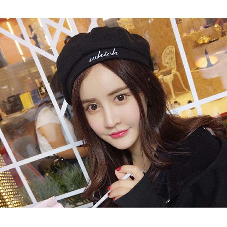 貝雷帽 畫家帽 字母素色 八角帽 貝雷帽【QI8527】 BOBI  09/01 1