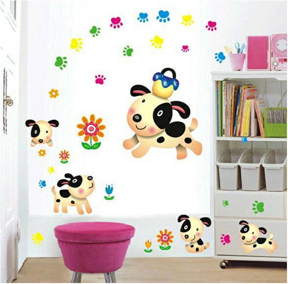 【壁貼王國】卡通系列 無痕壁貼 《可愛忠狗 - AY7036》