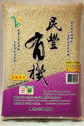 民豐 有機糙米 3KG
