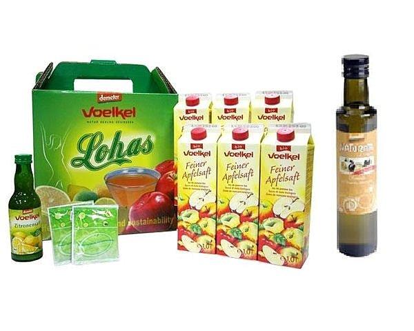 美纖小舖:德國Voelkel維可有機蘋果汁+有機檸檬汁+纖元素+瀉鹽+德國有機希臘冷壓橄欖油