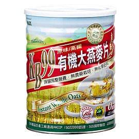 肯寶 KB99有機大燕麥片 600g/罐