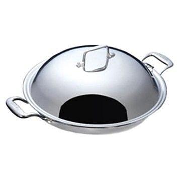 美國Paruah帕路亞 七層鋼原味健康炒鍋- SK3600 單柄的炒鍋