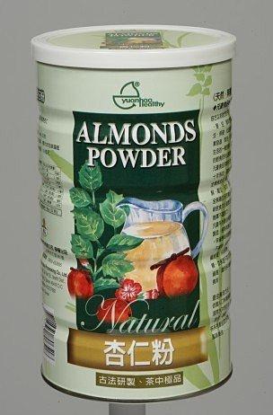 元豪 天然 杏仁粉 600g/罐 (本產品特別添加三益菌、綜合酵素、高溶解鈣)