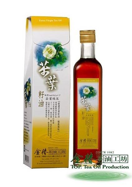 茶葉綠菓 500ML 茶葉籽油 苦茶油 冷壓初榨 頂級苦茶油 金椿茶油工坊