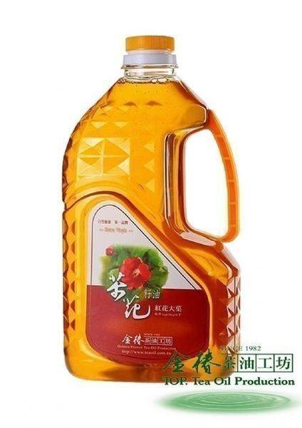 紅花大菓 茶花籽油 黃金苦茶油 金椿茶油工坊 1800ml