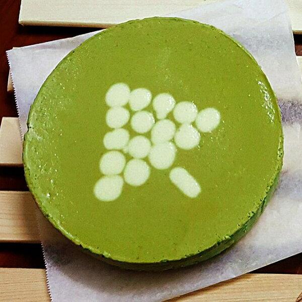 【宇治抹茶重乳酪蛋糕6吋】日本抹茶 自製杏仁餅乾底 用料實在 紮實綿密