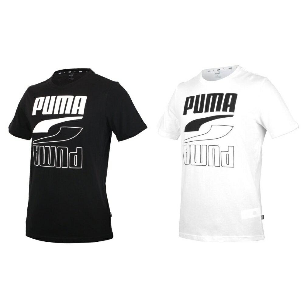 PUMA 男基本系列短袖T恤(亞規 純棉 Rebel 休閒上衣 慢跑【583488】≡排汗專家≡