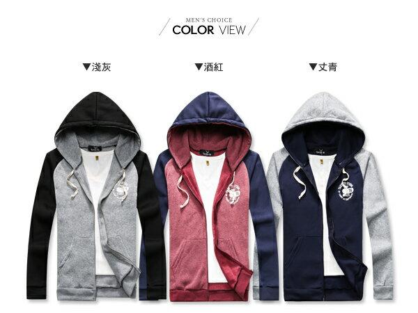 ☆BOY-2☆ 【OE10576】刷毛外套 美式撞色印花連帽外套 1