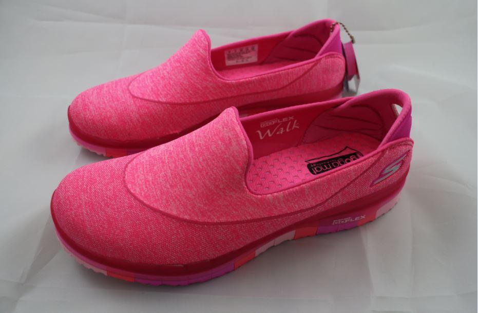 [陽光樂活]零碼 SKECHERS (女) 健走系列 GO FLEX 走路鞋 休閒鞋 健走鞋 - 14010HPK 粉