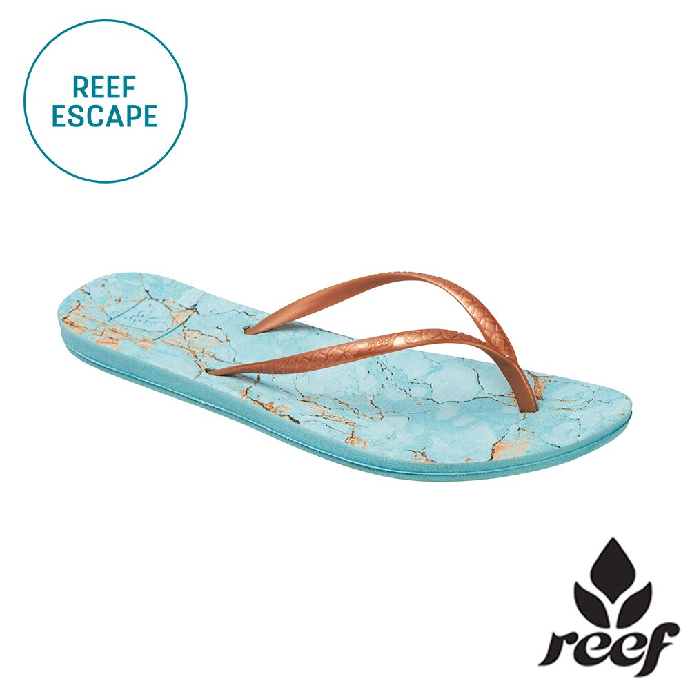 【79 折優惠↘】REEF ESCAPE 科技 防滑耐磨舒適好穿 基本款橡膠人字拖 夾腳拖鞋2.0 . 土耳其石